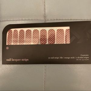 Jamberry Lacquer Strips - Red with Silver Stripe